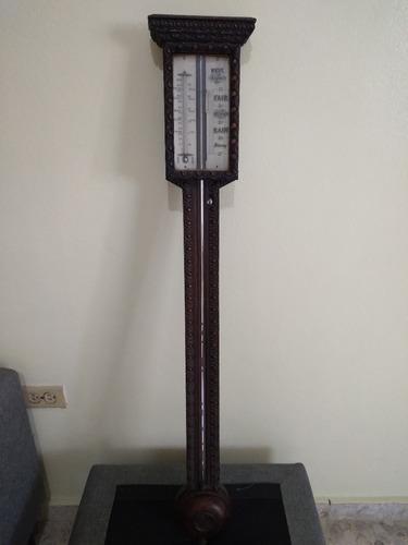 Barómetro Inglés Antiguo De 1850