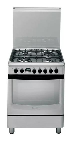 Cocina Mixta Gas Eléctrico Ariston Cx660s P6 Inox Tio Musa