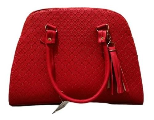Imagen 1 de 2 de Bolso Karina Color Rojo Grande Premium
