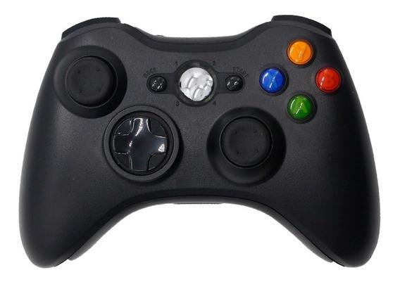 Controle Joystick Xbox 360 Sem Fio Preto Wireless