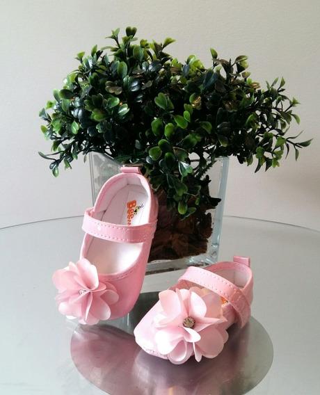 Sapatilha De Bebê Rosa - Calçado De Bebê - Sapatinho De Bebê