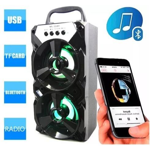 Caixa Som Amplificada Portatil Bluetooth Usb Cartao Fm 316bt