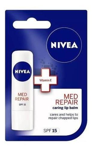 Protector Labial Nivea Med Repair Labios Resecos