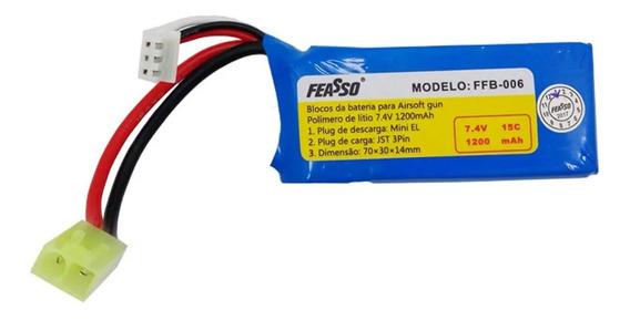 Bateria Lipo Airsoft 7.4v 1200mah Ffb-006 Amoeba Am 013 014