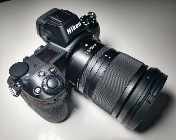 Câmera Nikon Z6 Mirrorless + Lente 24 70mm F4 (zero Cliques)