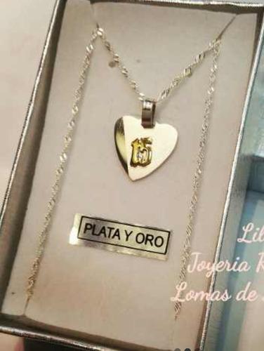 Lirio Rosa tornado  15 Años!!! Dije Cadena En Plata Y Oro!!! Única!!! | Mercado Libre