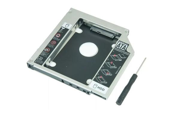 Adaptador Universal Caddy 2º Hd Ssd/dvd P/notebook 9mm 9,5mm