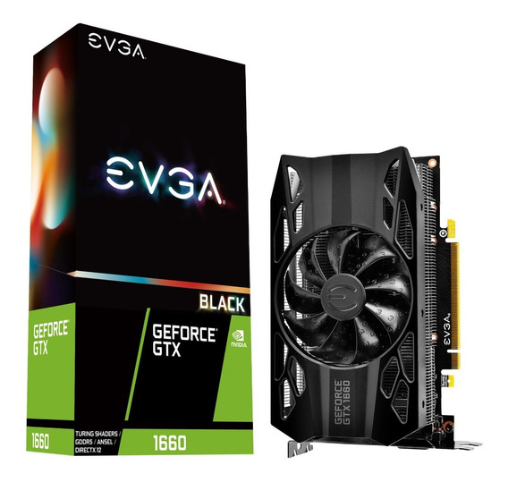 Placa De Video Evga Geforce Gtx 1660 Black Gaming 6gb