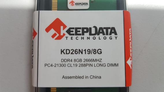 Memoria P/ Pc Keepdata 8gb 2666mhz Ddr4 288pin Kd26n19/8g