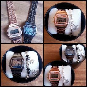 Relógio Casio Feminino Rosê +pulseira +caixa P/ Presente