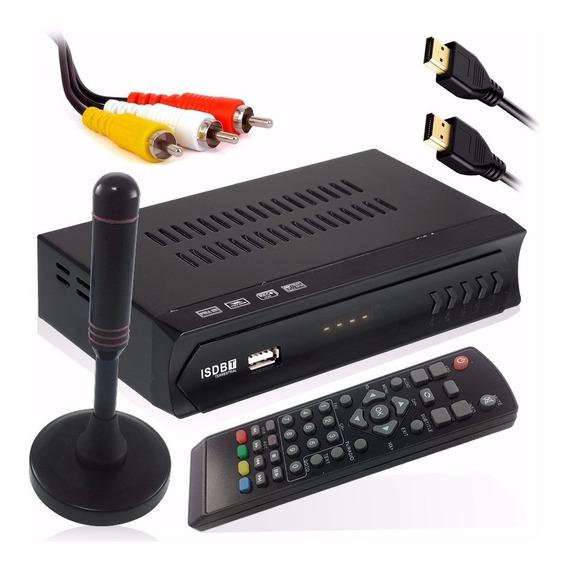 Conversor Digital Analógico + Antena Hd Interna Externa Uhf - Barato