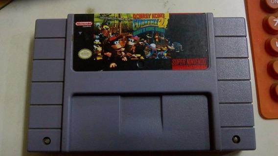 Fita Donkey Kong 2 Original Jogo Snes Super Nintendo Salva
