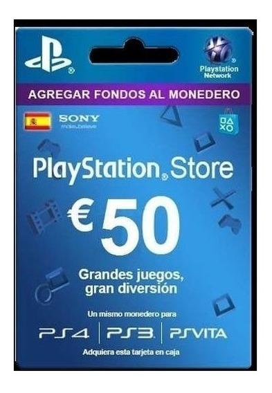 Tarjeta De Regalo España Psn 50 Euros Playstation Gift Card