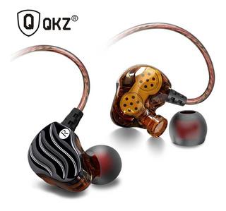 Auricular In-ear Qkz Ck4 Manos Libres Deportivo Bobina Dual