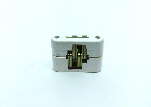 Imagem 1 de 6 de Kit 4 Dobradiça Invisível 35mm Branco