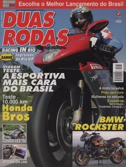 Duas Rodas N°335 Honda Bros Cbx 750 Mv Agusta Bmw Rockster