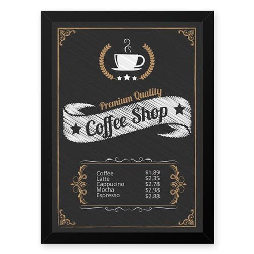 Quadro Graos Cafe Shop 23x33 Cm