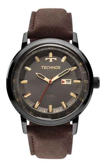 Relógio Technos Masculino Golf 2115laq/2c Preto Couro