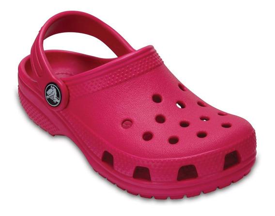 Zapato Crocs Infantil Classic K Pink Rosa