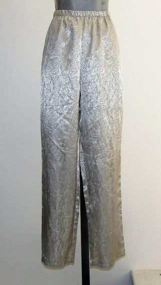 Sexy Pantalon De Pijama Dorado Talla Grande