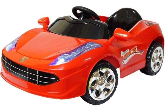 Mini Carro Elétrico Infantil Para Criança Vermelha Ferrari