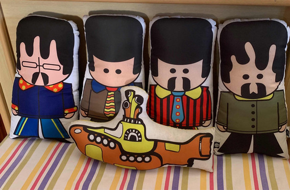 Lote Pelúcias The Beatles E The Yellow Submarine