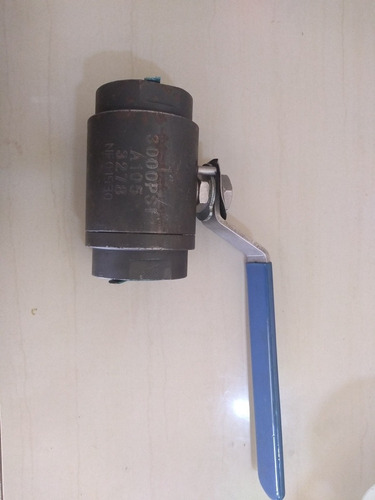 Valvula De Bola 1  PuLG Acero Al Carbono 3000 Psi