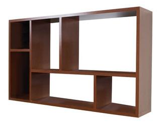 Mueble Librero Organizador Ibiza Nogal