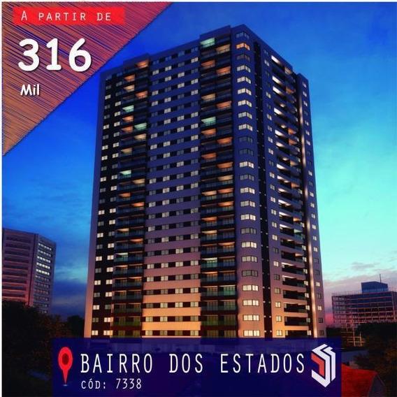 Apartamento Para Venda Em João Pessoa, Bairro Dos Estados, 2 Dormitórios, 1 Suíte, 1 Banheiro, 2 Vagas - 7338