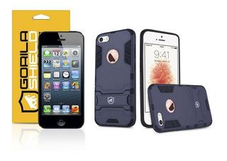Capa Armor E Película Dupla iPhone 5, 5s, 5c, Se Gorila