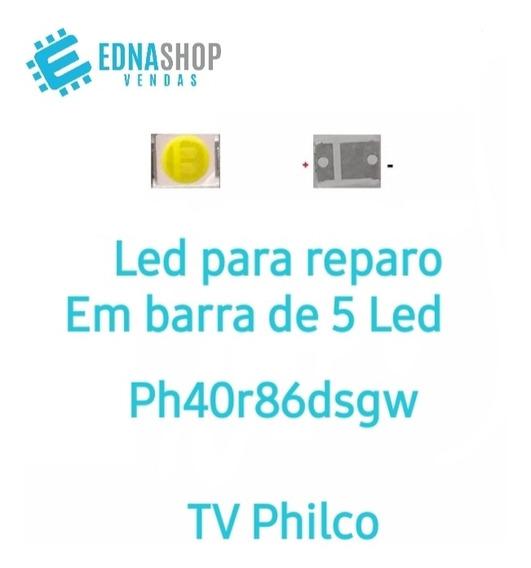 130 Led Philco Ph40r86dsgw 6v Original P/barra De 5 Leds