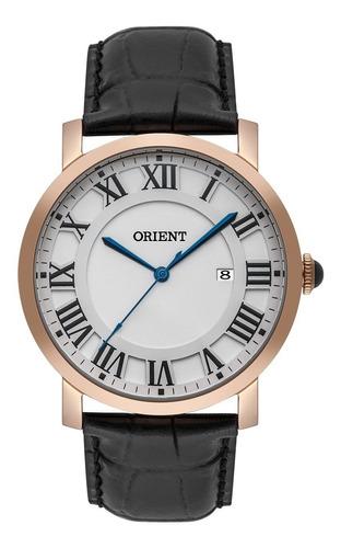 Relógio Orient Masculino Rose Couro Mrsc1010 S3px