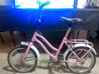 Bicicleta Paseo Niñas Rodado 14 Rosa Exelente Mantenimiento