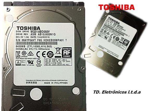 Hd Notebook 500gb Sata Toshiba Lacrado 1 Ano Garantia