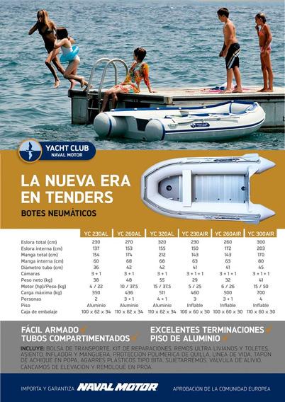 Bote Inflable Gomón Tender Desarmable Piso Aluminio Yc230al