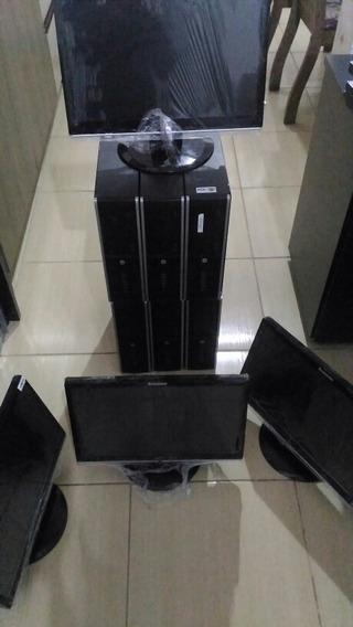 Lote 6computadores Hp Slim, Tela 19polegadas, 4gb Ram, 320hd