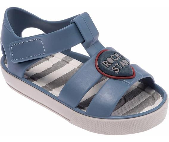 Sandália Colorê Pimpolho Infantil Azul Rock Star