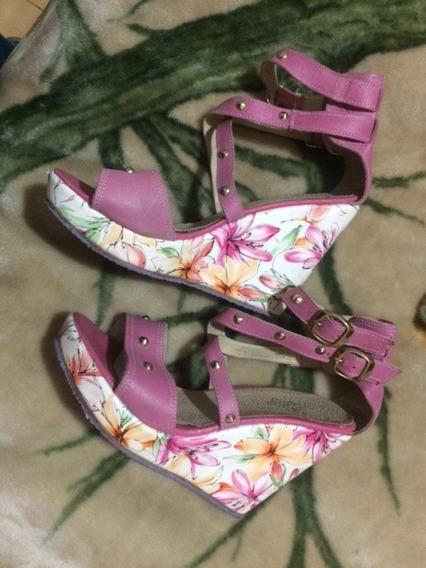 Sanadlias Zapatos Mujer Tiras Cruzadas Tachas Talle 39