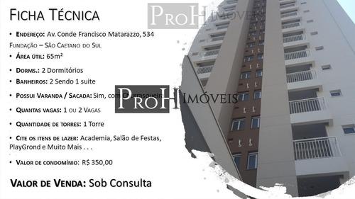 Imagem 1 de 15 de Apartamento Para Venda Em São Caetano Do Sul, Fundação, 2 Dormitórios, 1 Suíte, 2 Banheiros, 2 Vagas - Eleva2vg