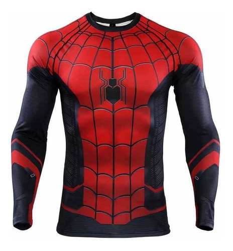 Camisetas Compresion Lycra Marvel Flash, Superman, Spiderman