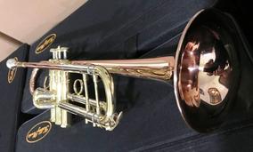 Trompete Bb Intermediario Hm-610gl Laqueado Super Promoção