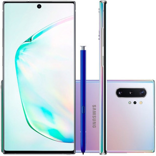Celular Samsung Galaxy Note 10+ Plus Prata 256gb 12gb Ram