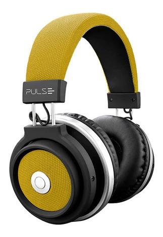 Fone De Ouvido Pulse Headphone Large Bluetooth Amarelo