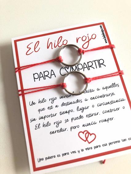 Pulsera Hilo Rojo Regalo San Valentín Para Compartir T2019