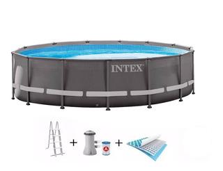 Pileta Estructural Intex + Accesorios + 2 Flota Flota Mm
