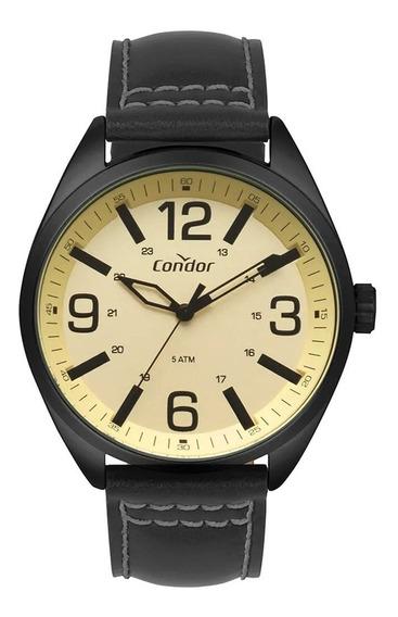 Relógio Condor Masculino Analógico Couro Preto Co2035mpe/2d