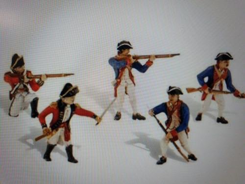 Set De 5 Soldados Guerra Independencia De Estados Unidos