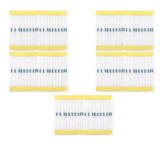 100 Resistor 220 330 1k 10k 100k 20 Cada 1/4w 1% Para Arduin