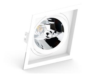 Embutido Ar111 Quadrado Recuado Branco Ou Preto Save Energy