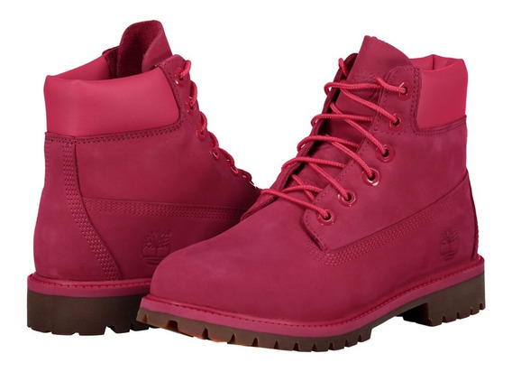 Bota Impermeable Piel Timberland A1ode Mujer Rosa